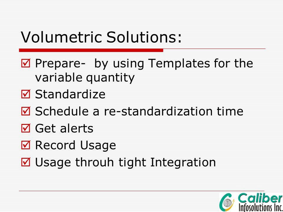 Volumetric Solutions: