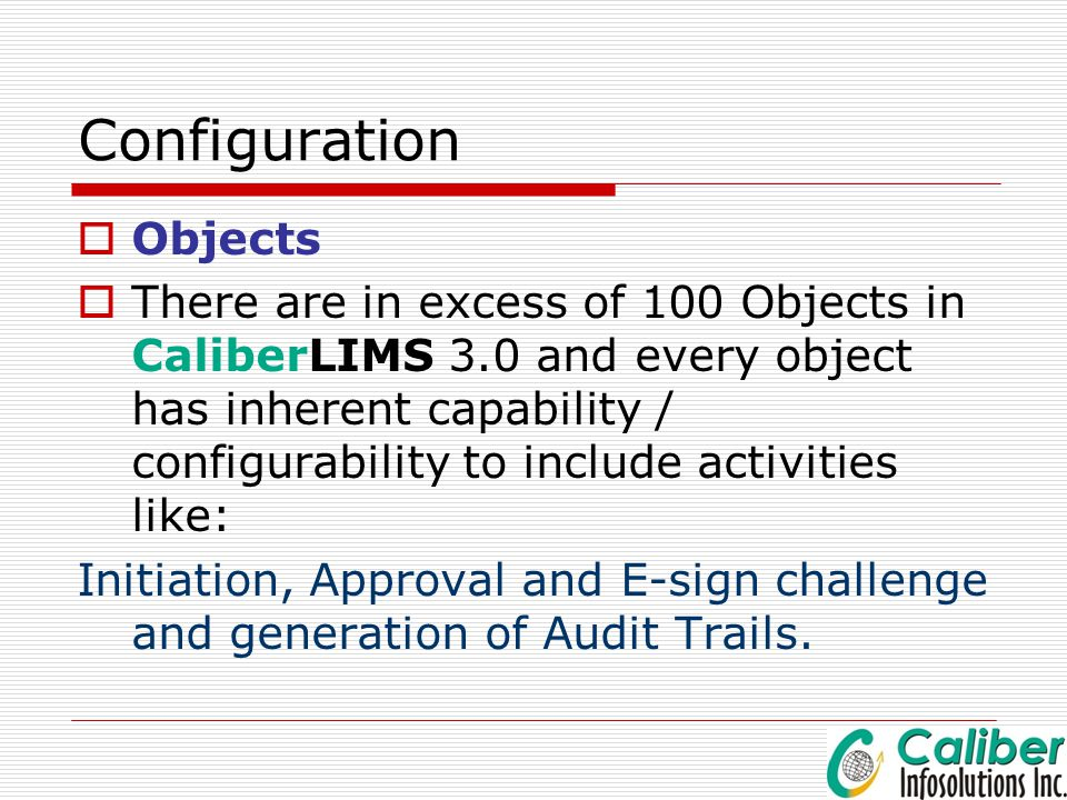 Configuration Objects