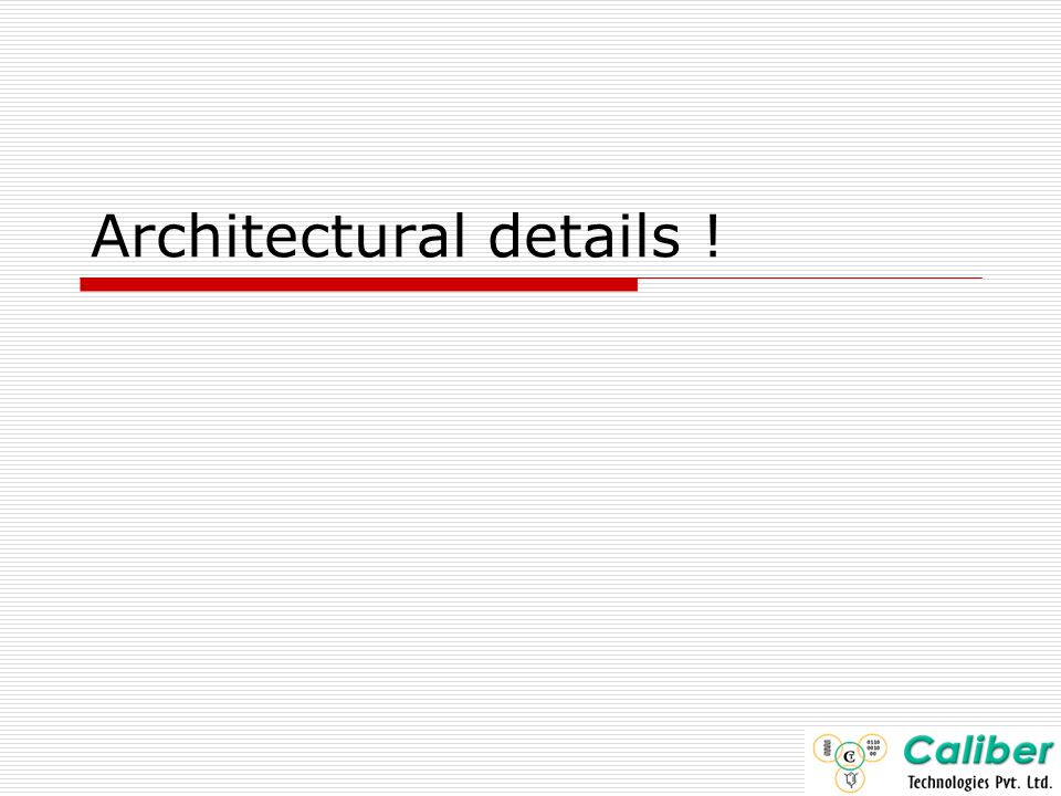 Architectural details !