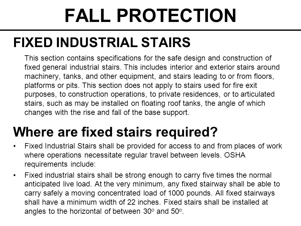 FALL PROTECTION FIXED INDUSTRIAL STAIRS