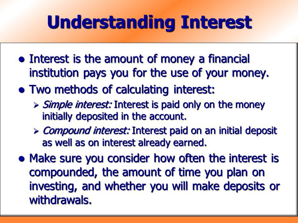 Understanding Interest