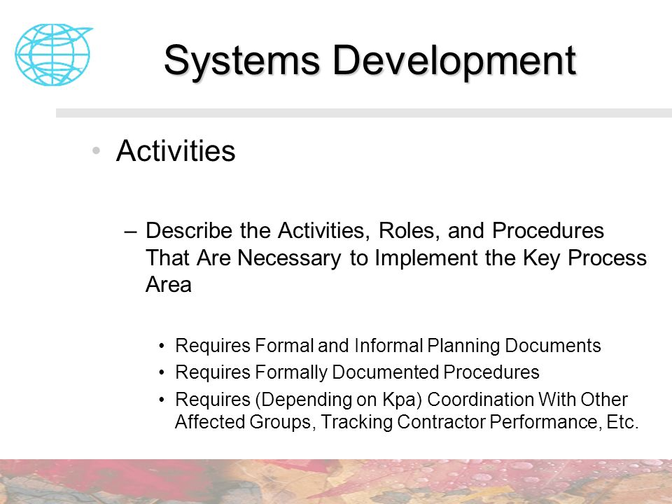 Systems Development Activities