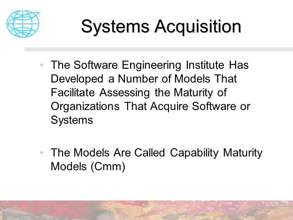 Systems Acquisition