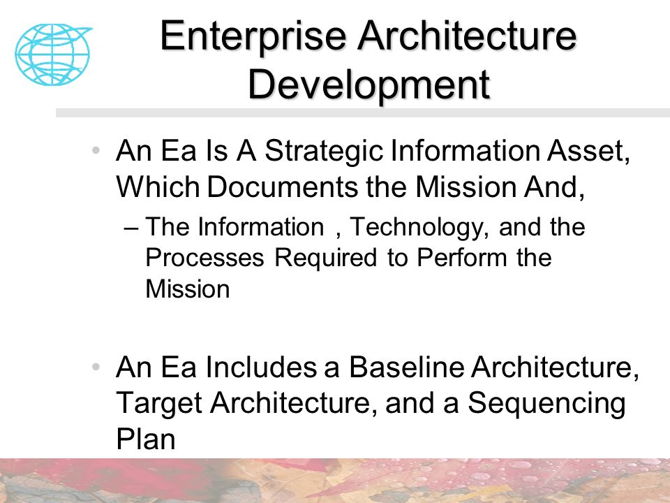 Enterprise Architecture Development