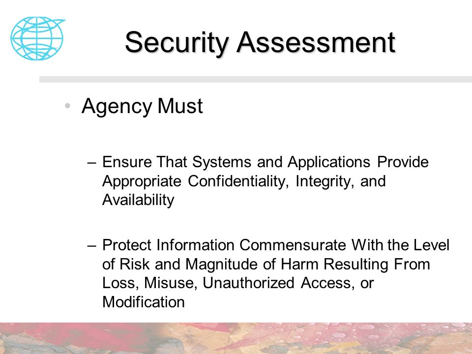 Security Assessment Agency Must