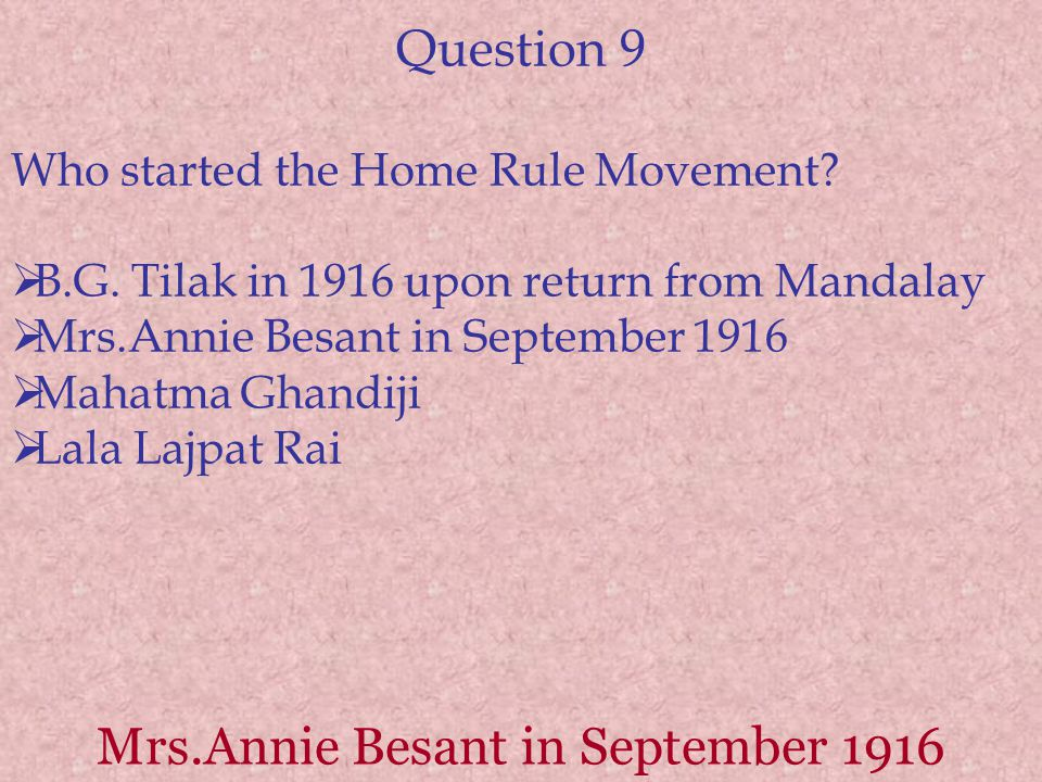 Mrs.Annie Besant in September 1916