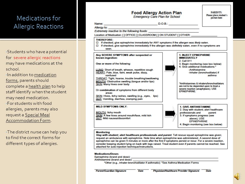 Medications for Allergic Reactions
