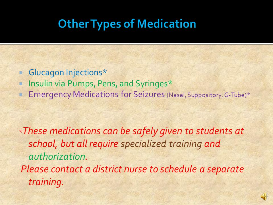 Other Types of Medication Delivery…