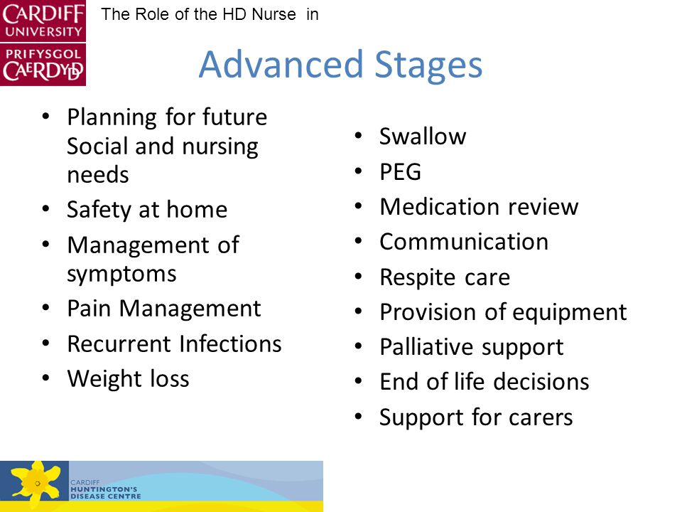 Advanced Stages Planning for future Social and nursing needs Swallow