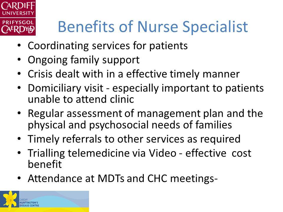 Benefits of Nurse Specialist