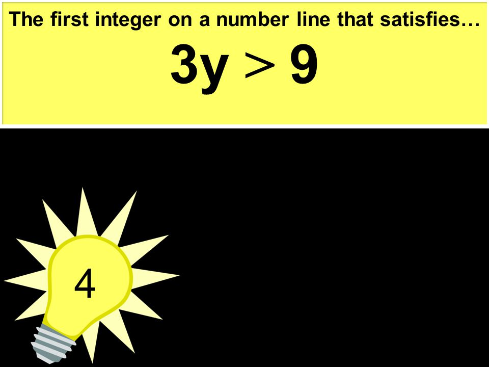 The first integer on a number line that satisfies…