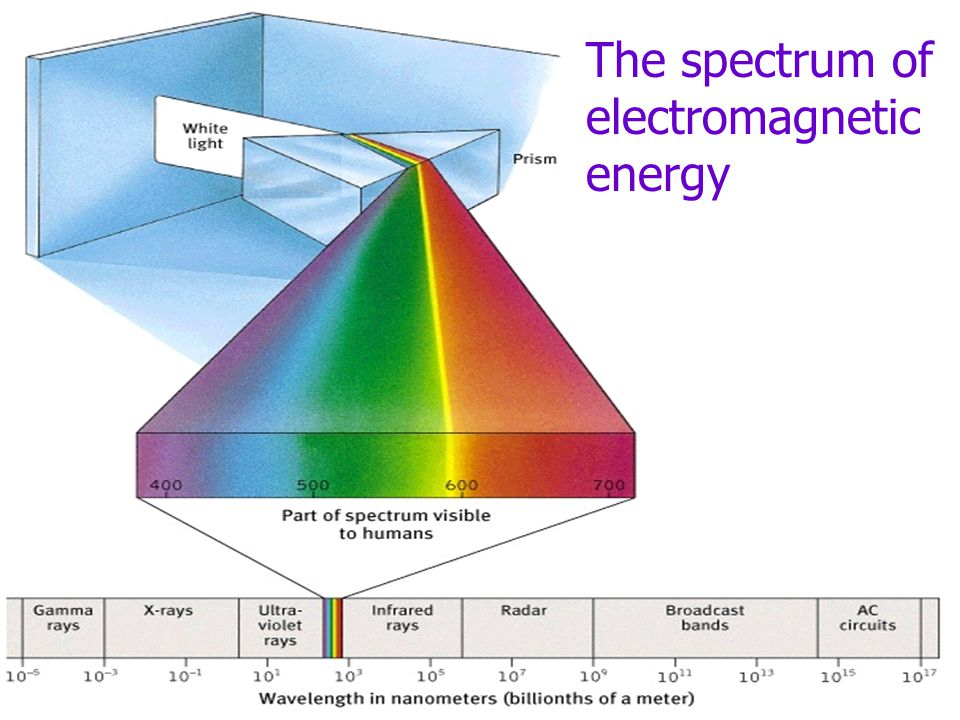 The spectrum of electromagnetic energy