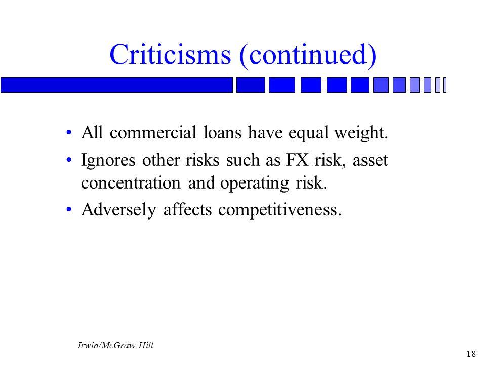 Criticisms (continued)