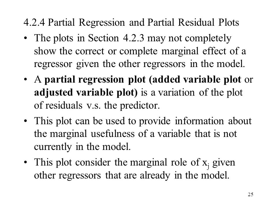 4.2.4 Partial Regression and Partial Residual Plots