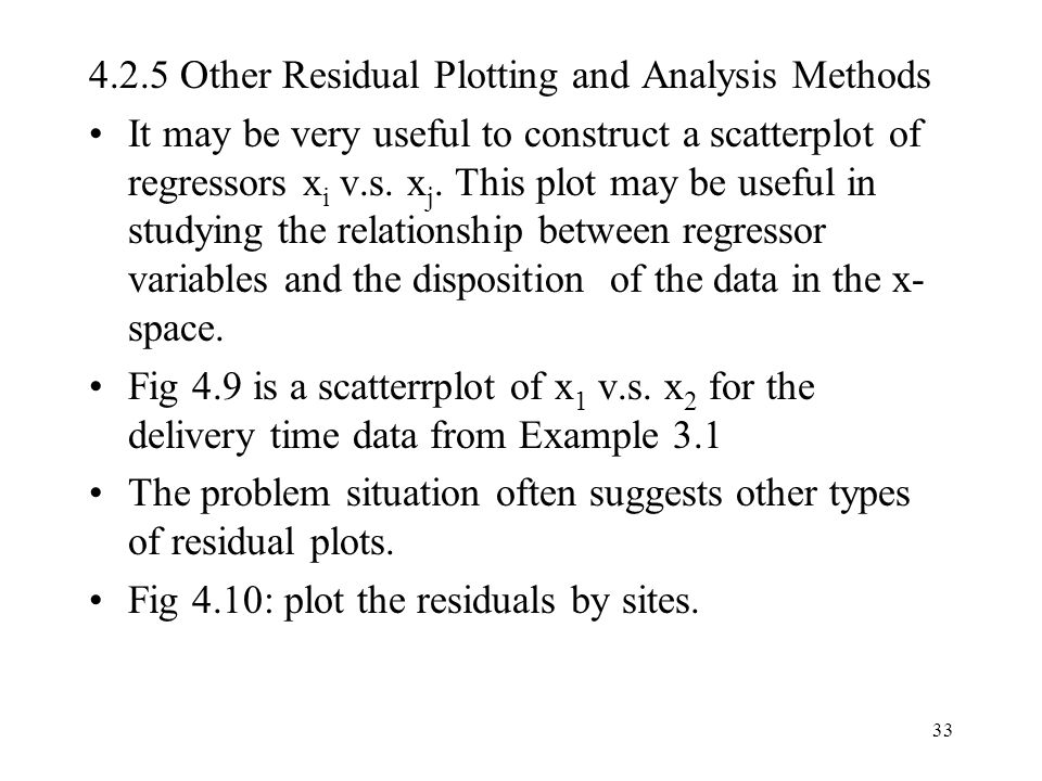 4.2.5 Other Residual Plotting and Analysis Methods