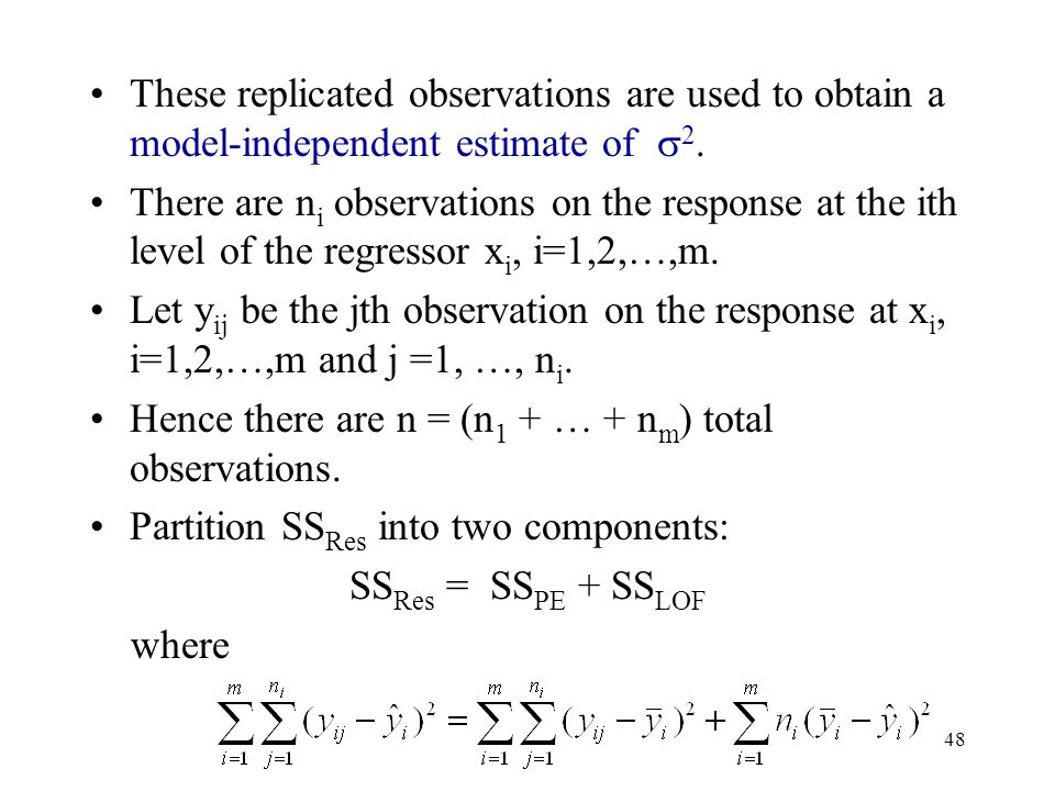 These replicated observations are used to obtain a model-independent estimate of 2.