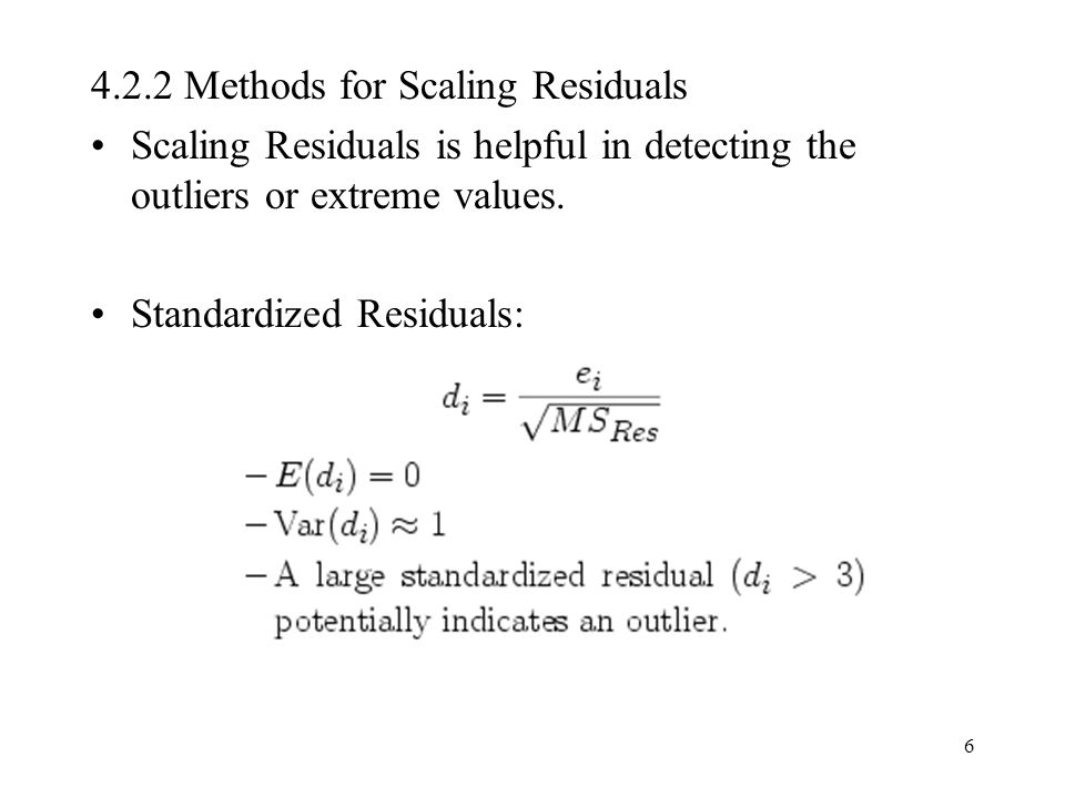 4.2.2 Methods for Scaling Residuals