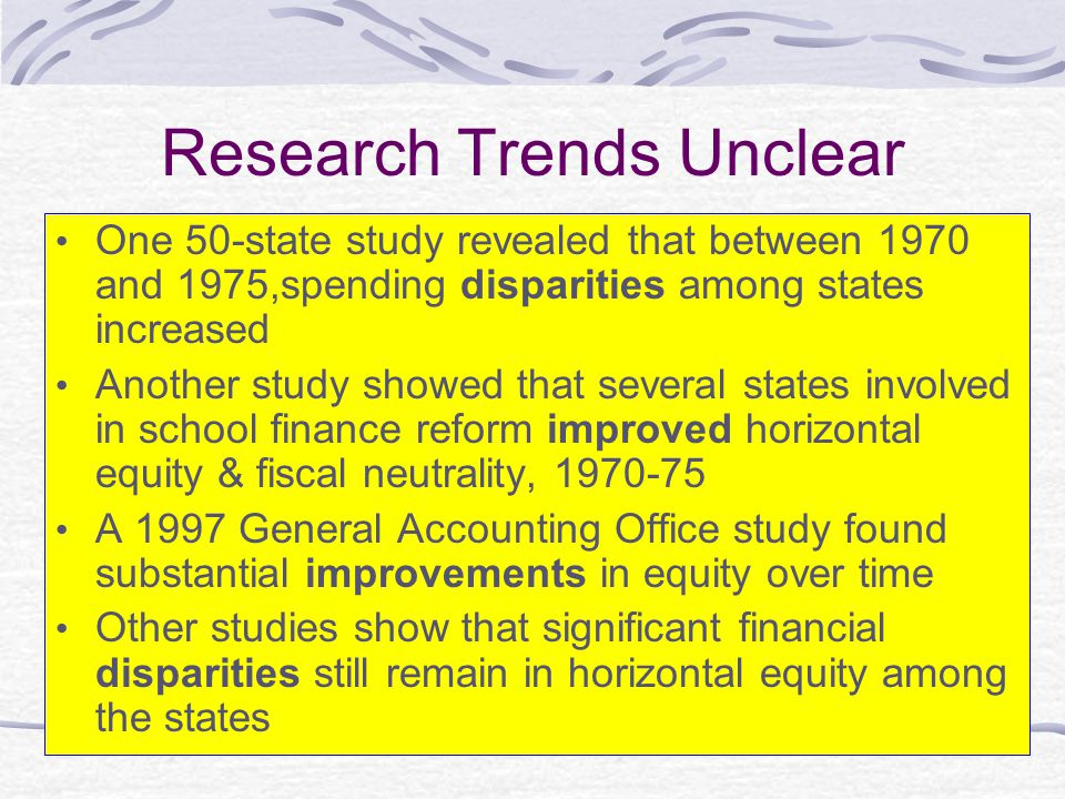 Research Trends Unclear