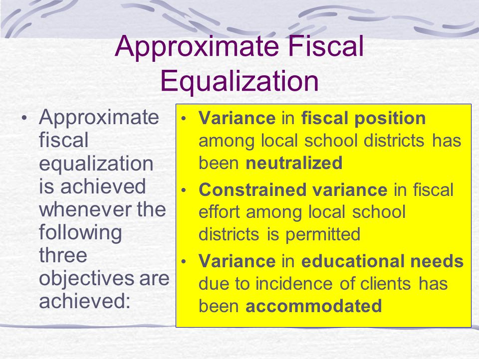 Approximate Fiscal Equalization