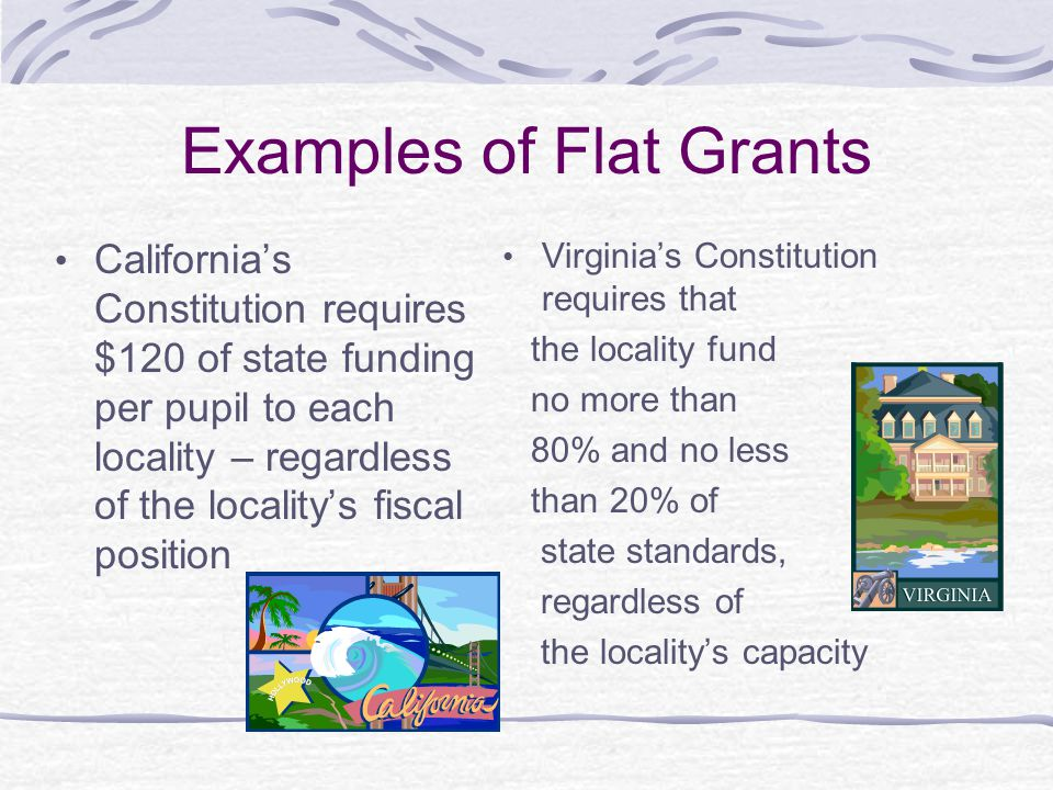 Examples of Flat Grants
