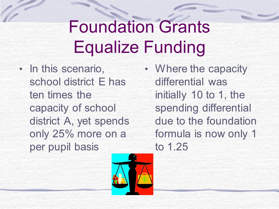 Foundation Grants Equalize Funding