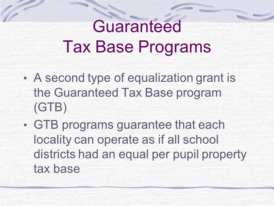 Guaranteed Tax Base Programs