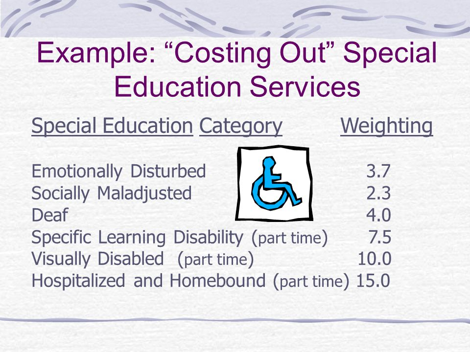 Example: Costing Out Special Education Services