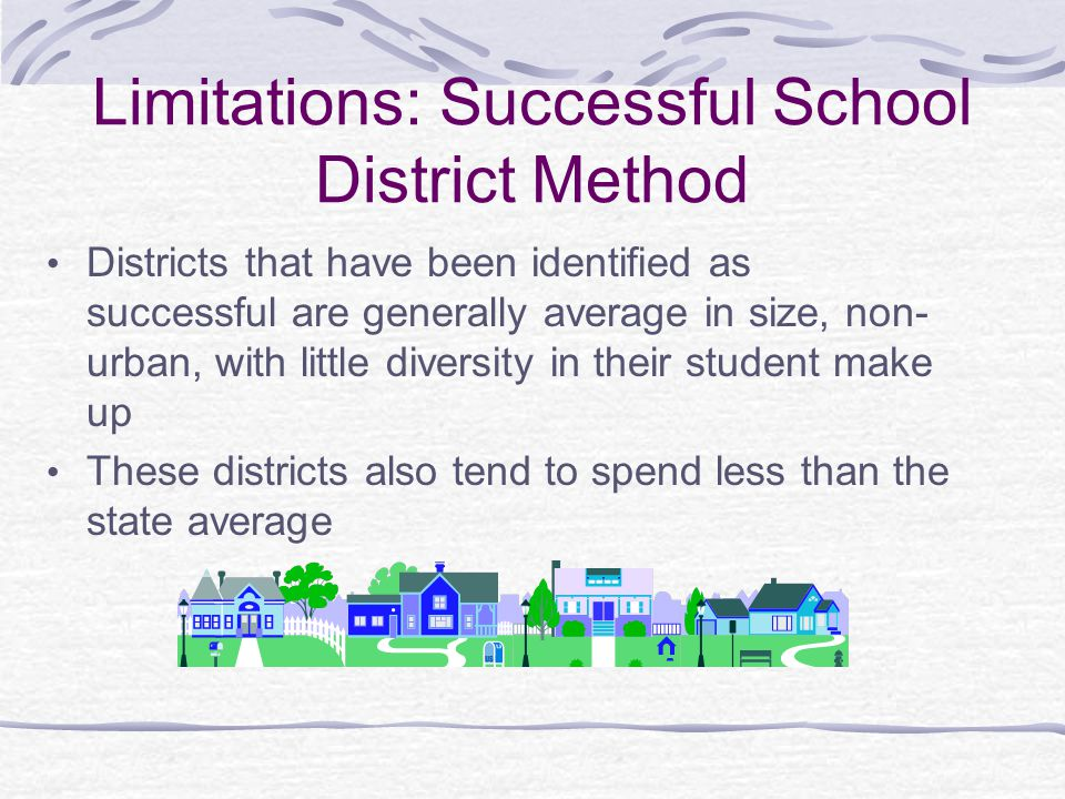 Limitations: Successful School District Method