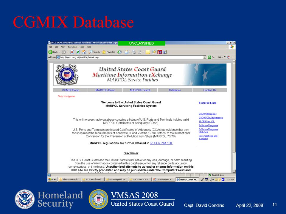 CGMIX Database Use Live Link on Previous Slide if time permits.