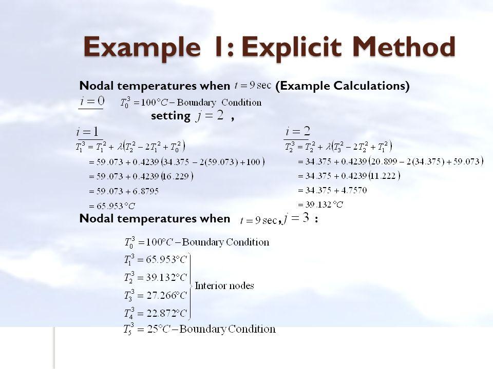 Example 1: Explicit Method