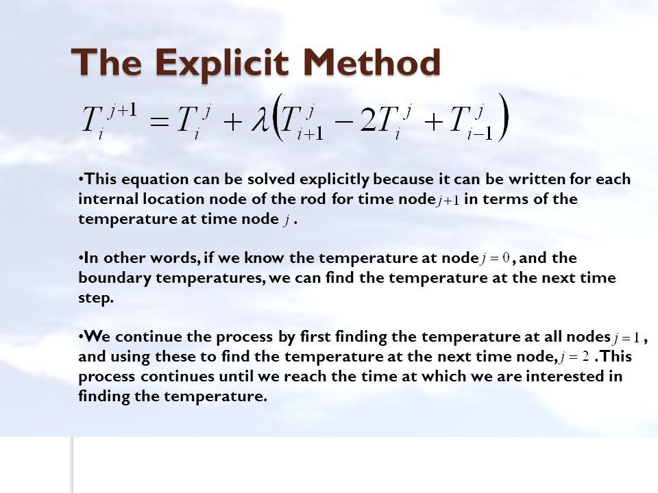 The Explicit Method