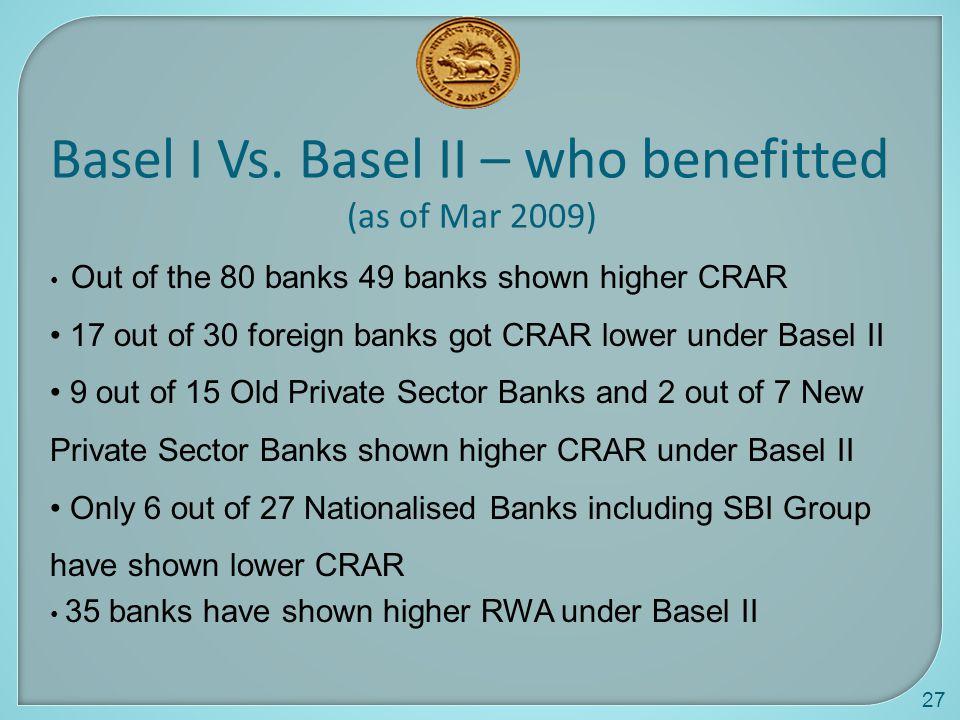 Basel I Vs. Basel II – who benefitted
