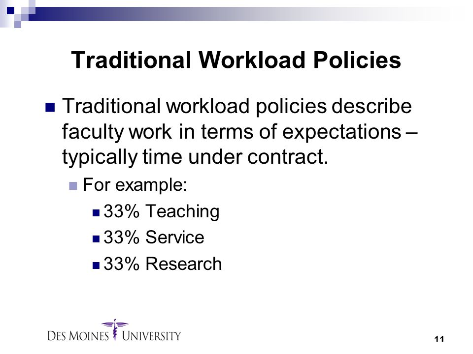 Traditional Workload Policies