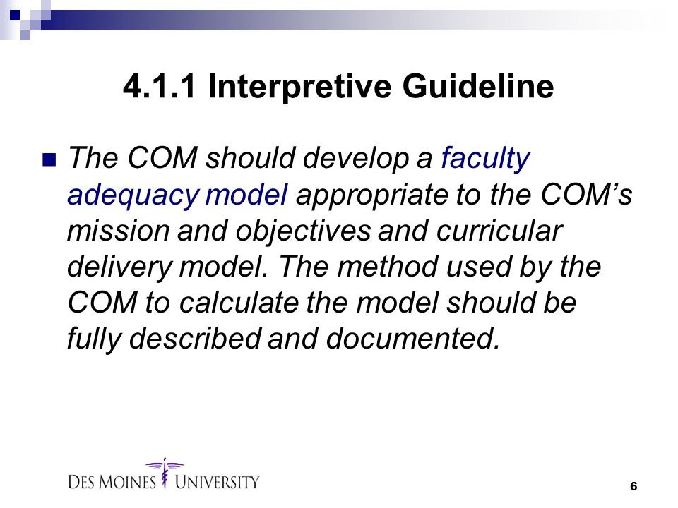 4.1.1 Interpretive Guideline