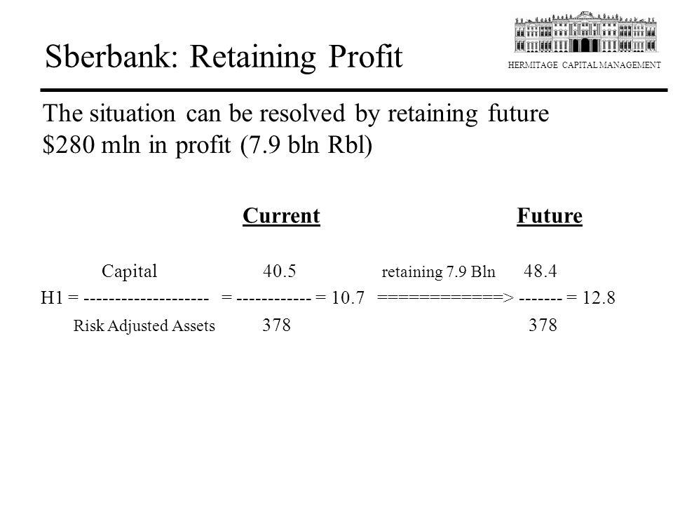 Sberbank: Retaining Profit