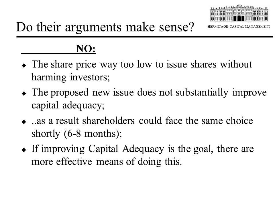 Do their arguments make sense