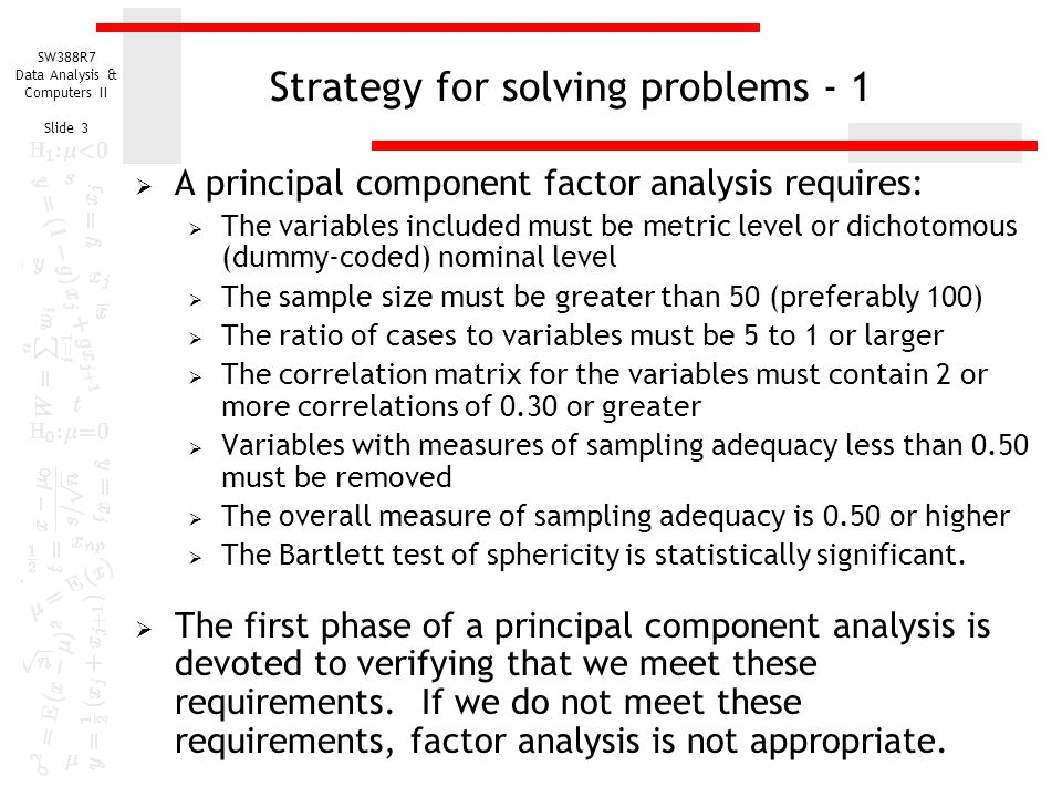 Strategy for solving problems - 1