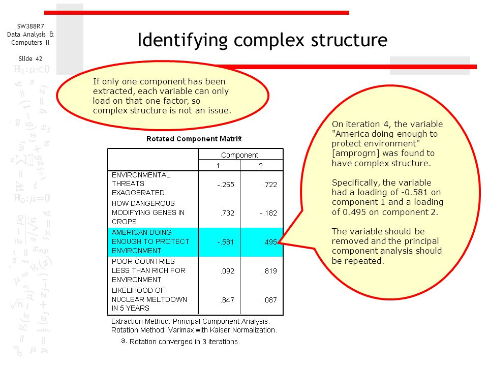 Identifying complex structure
