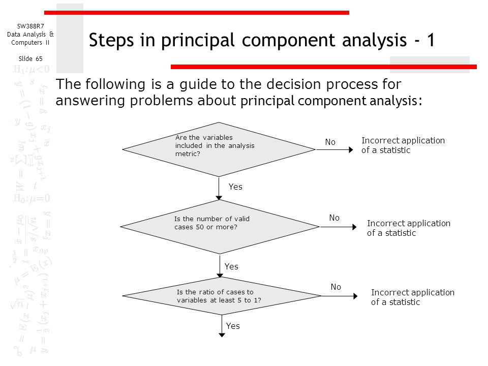 Steps in principal component analysis - 1