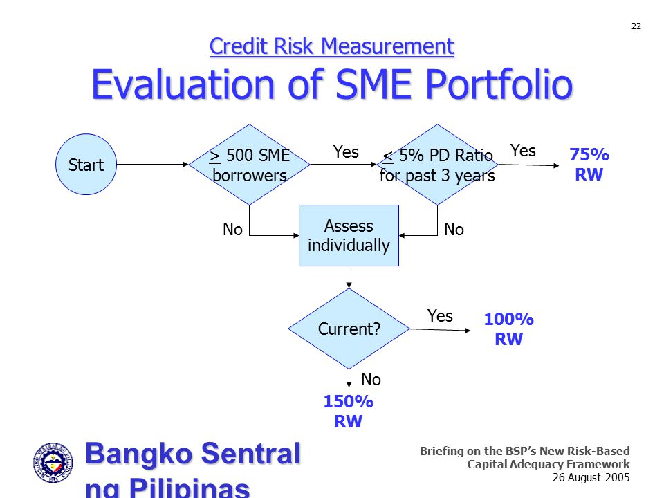 Credit Risk Measurement Evaluation of SME Portfolio
