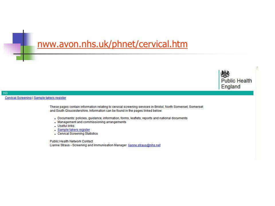 nww.avon.nhs.uk/phnet/cervical.htm