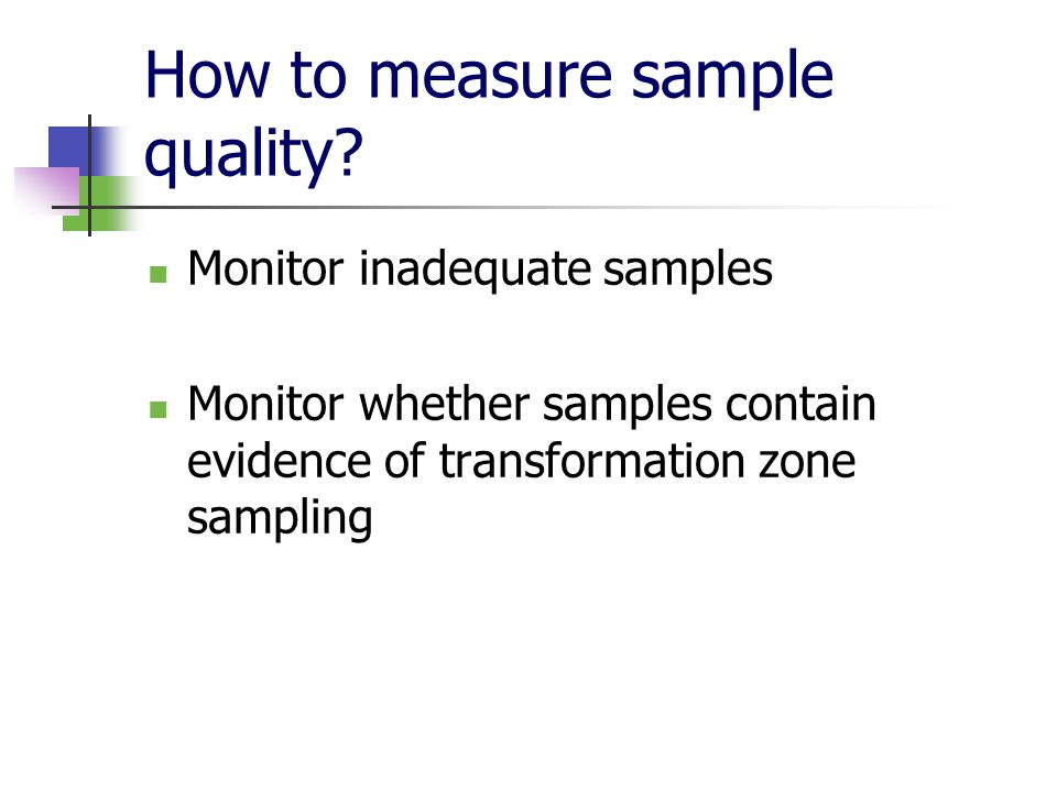 How to measure sample quality