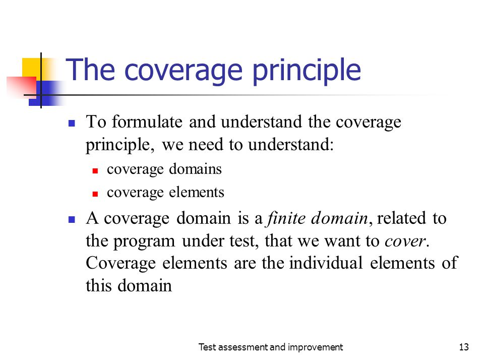 The coverage principle