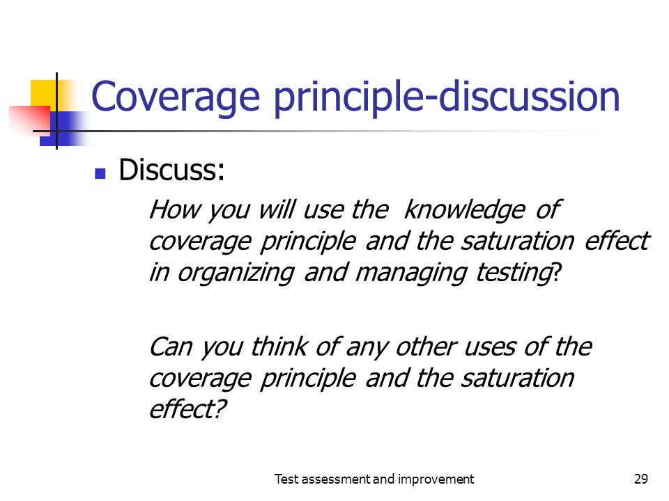 Coverage principle-discussion