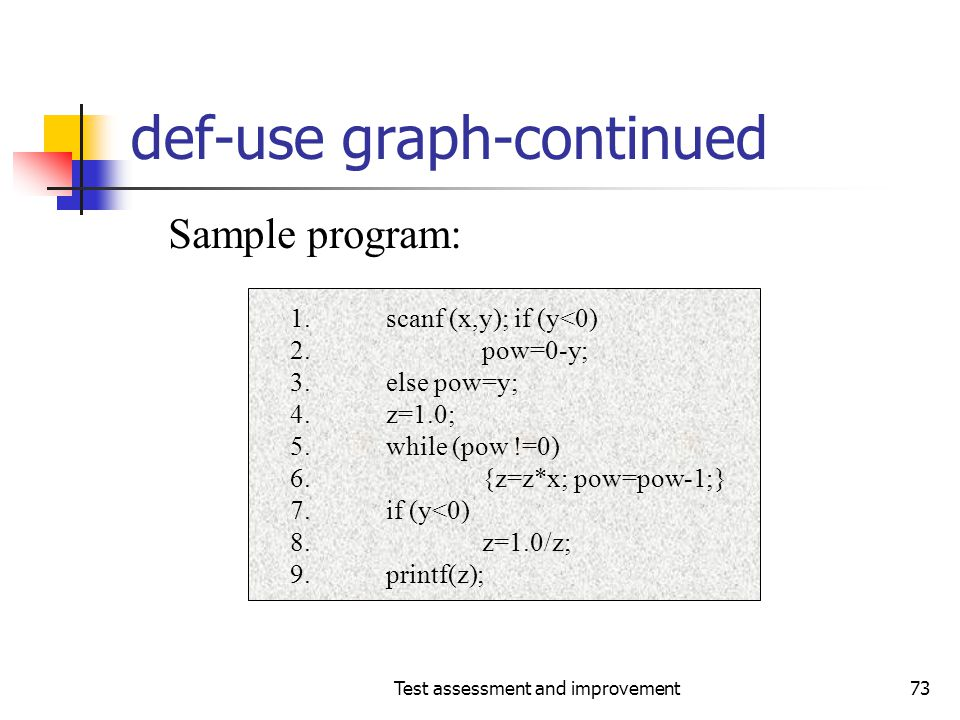 def-use graph-continued