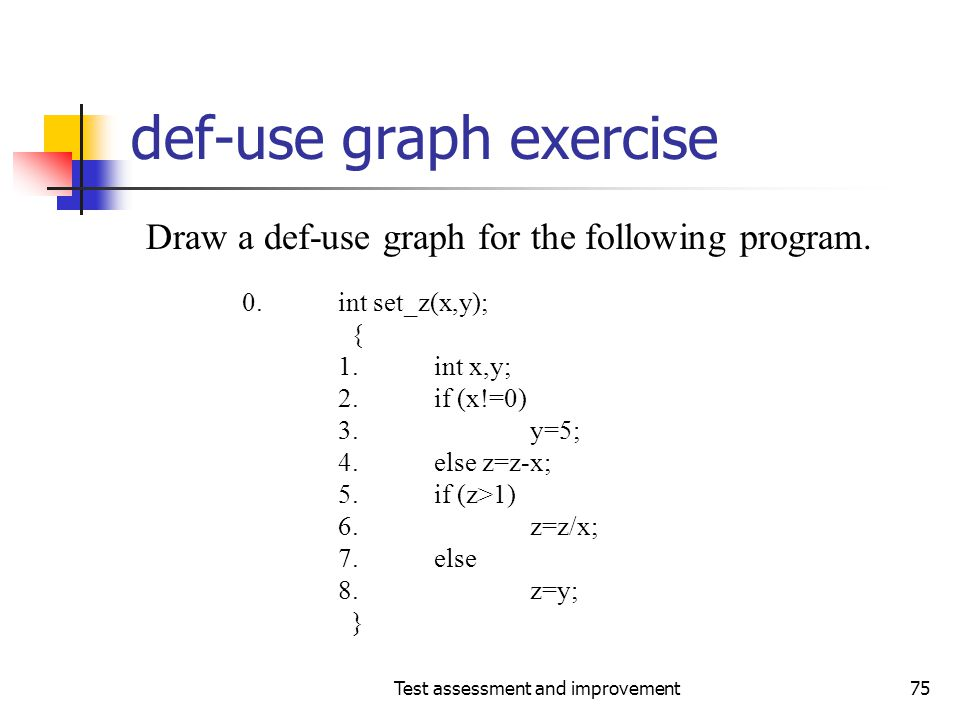 def-use graph exercise