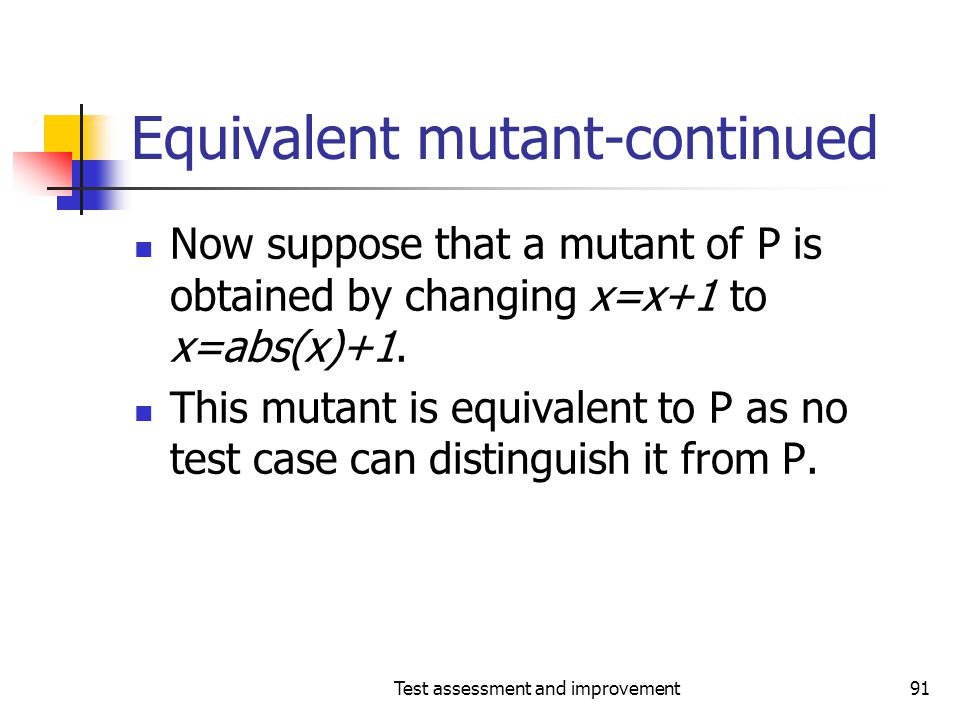 Equivalent mutant-continued