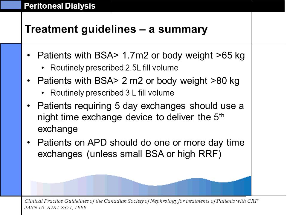 Treatment guidelines – a summary