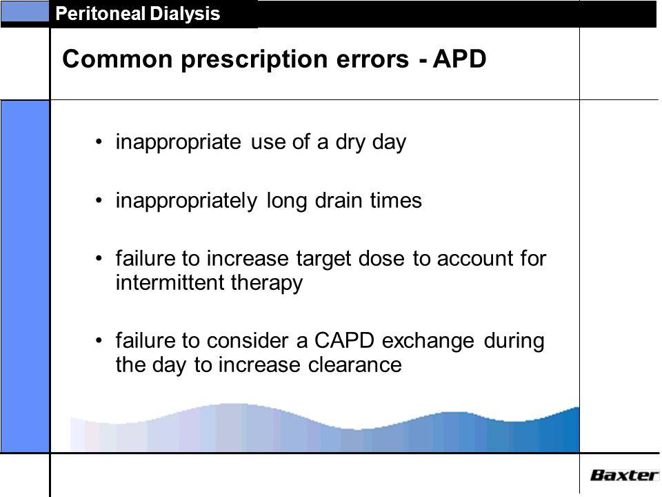 Common prescription errors - APD