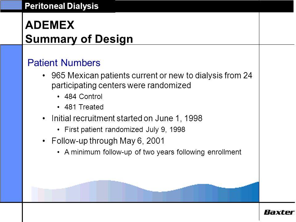 ADEMEX Summary of Design